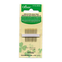 Clover Gold Eye BetweenQuilting Needles Size 10  - Product Image