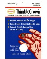 Thimble Crown Stainless Steel With Adhesive - Product Image