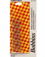 Gingham Square Pfaff Plastic Bobbins - Product Image