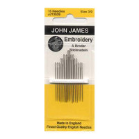 John James Embroidery / Crewel  Needles Sizes 3/9 - Product Image