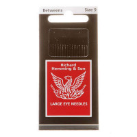 Richard Hemming Between Quilting Needles Large Eye Size 9 - Product Image