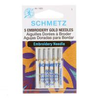 Schmetz Gold Titanium Embroidery Machine Needle Size 14/90 5ctOUT OF STOCK - Product Image